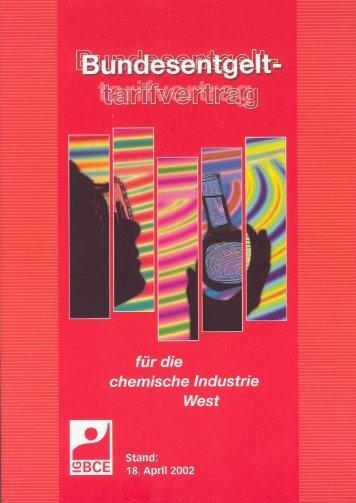Bundesentgelttarifvertrag mit der IG Bergbau, Chemie, Energie
