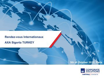 Titre de la présentation message principal - AXA Corporate Solutions