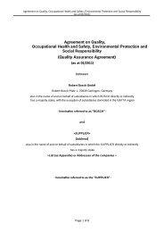 Quality Assurance Agreement