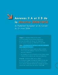  Annexes II A et II b de la directive 2004/18/CE - Ucanss