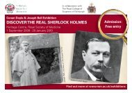 download a flyer here - The Sherlock Holmes Society of London