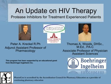 Protease Inhibitors - Free CE Continuing Education online ...