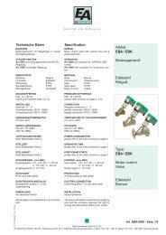 EBA / EBK Motor control Valve Edelstahl Bronze