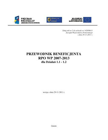 przewodnik beneficjenta rpo wp 2007-2013 - Agencja Rozwoju ...