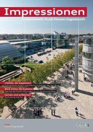 Impressionen Erlebniswelt Audi Forum Ingolstadt