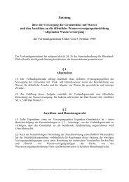 Satzung über die Versorgung von Grundstücken mit Wasser und ...
