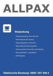 ALLPAX | Technischer Großhandel - Vakuumiergeräte