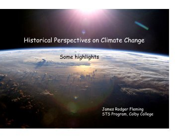 Historical Perspectives on Climate Change - Linda Hall Library