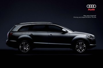 The New Audi Q7 Pricing And Specification Guide