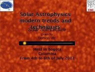 Solar Astrophysics modern trends and techniques Held in Bogota ...