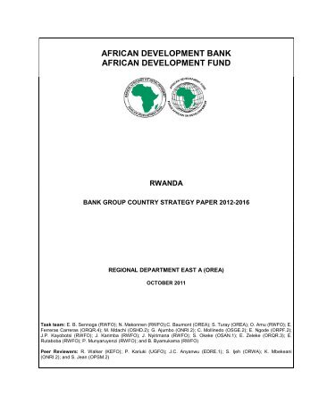 2012-2016 - Rwanda - Country Strategy Paper - African ...