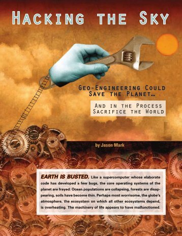 Hacking the Sky - Society of Environmental Journalists