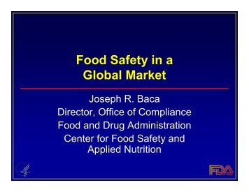 Food Safety in a Global Market - Quality Assurance Association