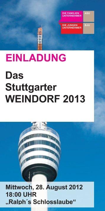 Das Stuttgarter WEINDORF 2013 - Familienunternehmen