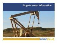 Supplemental Information - Enerplus