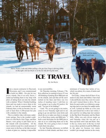 Ice Travel - June 2011 - Western Mule Magazine