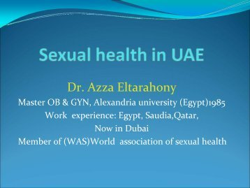 State-of-the-art Lecture 1: Sexual health in United Arab ... - MESSM