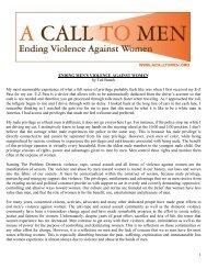 1 ENDING MEN'S VIOLENCE AGAINST WOMEN by Ted ... - VAWnet