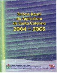Síntese Anual da Agricultura de Santa Catarina - 2004-2005 - Cepa