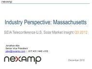 Industry Perspective: Massachusetts - SEIA