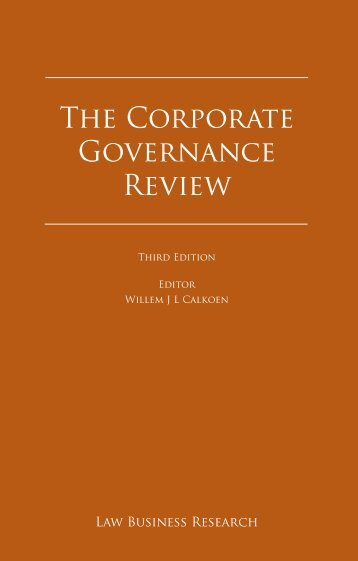 The Corporate Governance Review - NautaDutilh