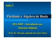 Aula 2 - Paridade e Algebra de Boole.SEL405 - Iris.sel.eesc.sc.usp.br