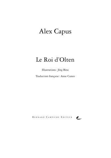 Extraits - Bernard Campiche Editeur