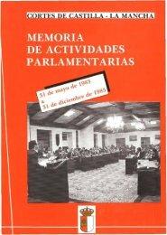 Memoria de Actividades Parlamentarias del 31 de mayo de 1983 al ...