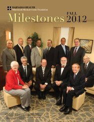 Milestones Fall 2012 issue - Monmouth Medical Center Foundation