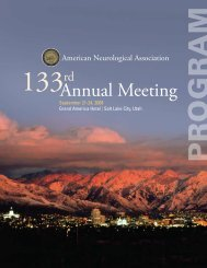 Annual Meeting - American Neurological Association