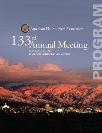 Annual Meeting - American Neurological Association