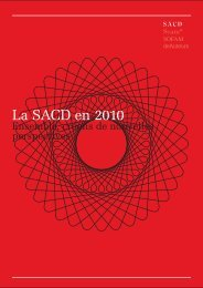 La SACD en 2010