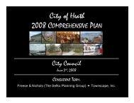 City Council Presentation Summary - City of Heath, Texas