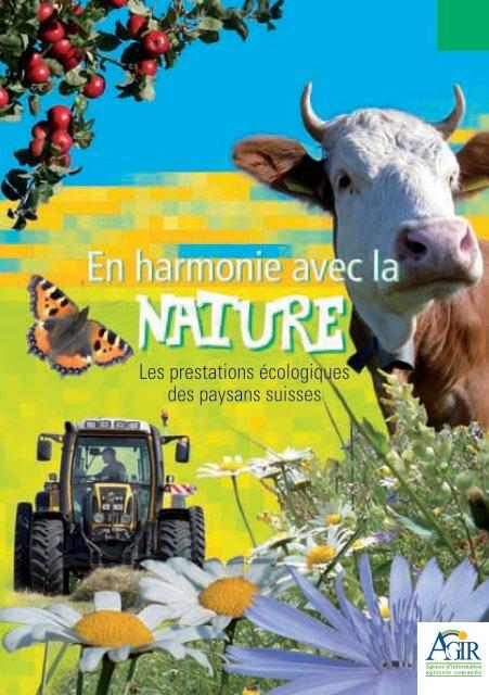 Les prestations écologiques des paysans suisses - Nomad Systems