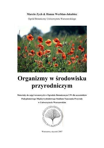 Organizmy w środowisku przyrodniczym - Ogród Botaniczny