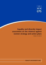 Equality and diversity impact assessment on the violence against ...