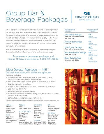 Help with Allegrissimo drinks package - MSC Cruises ...