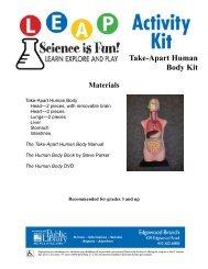 Take Apart Human Body Kit, pg 1-2