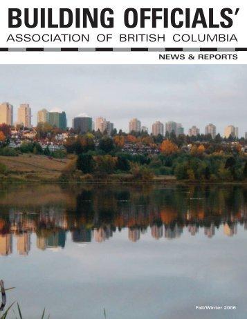 Fall/Winter 2006 - Building Officials' Association of BC