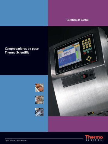 Checkweigh Controls ES - Thermo Scientific