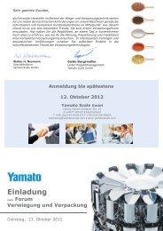 Verwiegung und Verpackung - Yamato Scale GmbH
