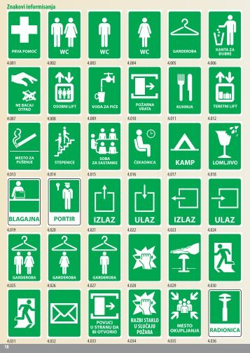 Znakovi informisanja - www.todorovicdoo.com