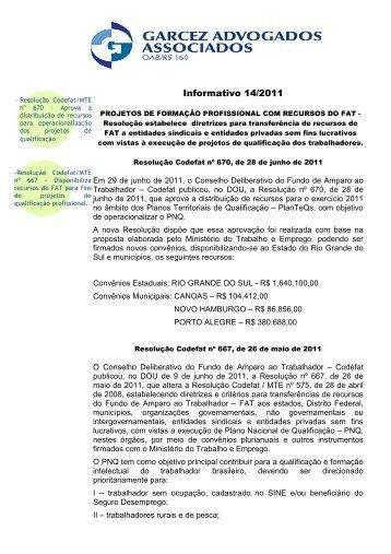 Informativo 14 20112 - SINBORSUL