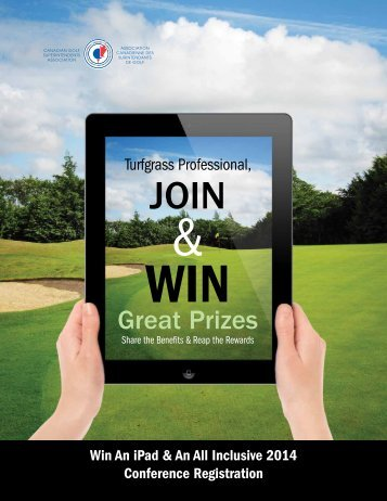 Join & Win - Canadian Golf Superintendents Association