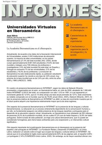 Universidades Virtuales en Iberoamerica Revista Red Digital, 1