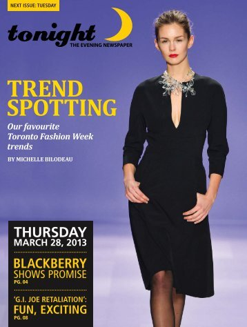 TREND SPOTTING - tonight Newspaper