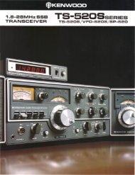 Kenwood TS-520S (Brochure) - WB4HFN Home Page