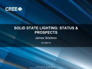 SOLID STATE LIGHTING: STATUS & PROSPECTS