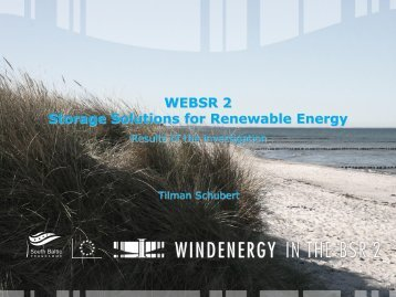 Storage Solutions for Renewable Energy - South Baltic Offshore ...