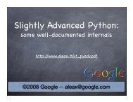 Slightly Advanced Python: